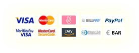 VISA, MasterCard, Sofortüberweisung, Verified by VISA, MasterCard SecureCode, Diners Club, Vorkasse