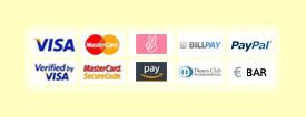VISA, MasterCard, Sofortüberweisung, Verified by VISA, MasterCard SecureCode, Vorkasse