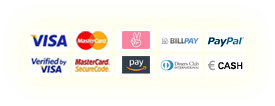 VISA, MasterCard, Sofortüberweisung, Verified by VISA, MasterCard SecureCode, Diners Club, Payment in advance
